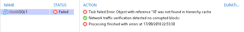 veeam object with reference not found 01