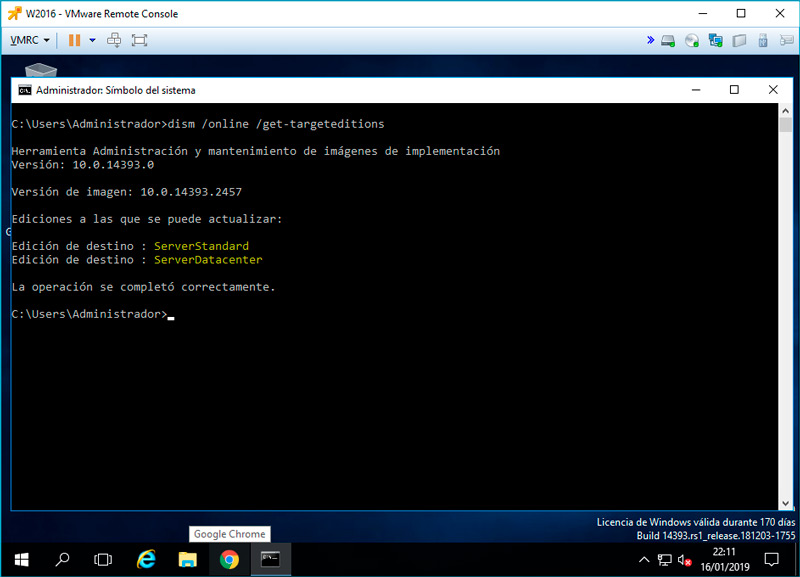 windows server cambiar version evaluacion standard 05