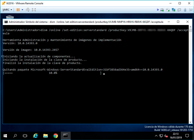windows server cambiar version evaluacion standard 06